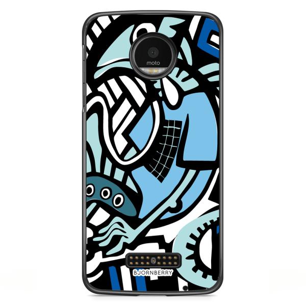 Bjornberry Skal Motorola Moto Z - Grafitti Ödla