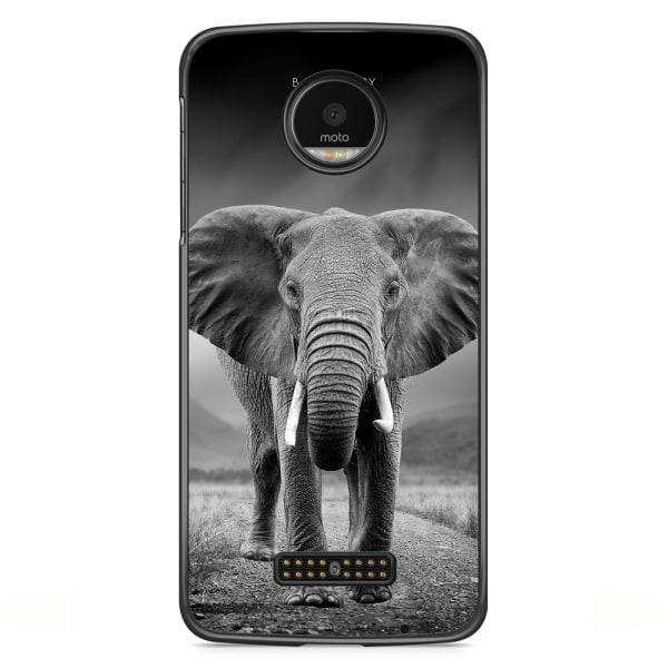 Bjornberry Skal Motorola Moto Z - Svart/Vit Elefant