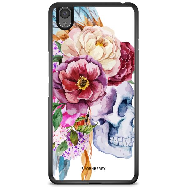 Bjornberry Skal OnePlus X - Dödskalle Blommor
