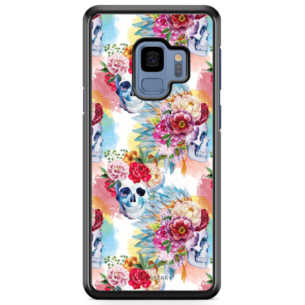 Bjornberry Skal Samsung Galaxy A8 (2018) - Dödskallar & Blommor