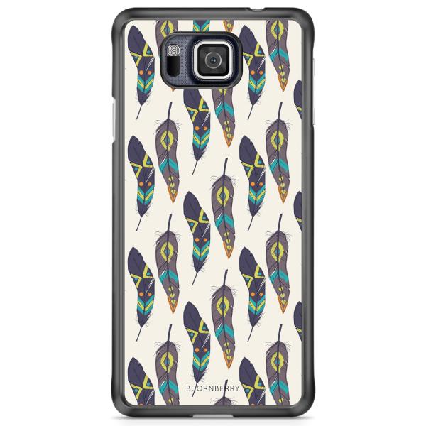 Bjornberry Skal Samsung Galaxy Alpha - Hipster Fjädrar