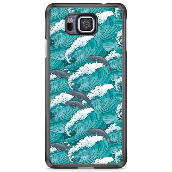 Bjornberry Skal Samsung Galaxy Alpha - Vågor & Delfiner