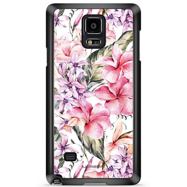 Bjornberry Skal Samsung Galaxy Note 4 - Vattenfärg Blommor