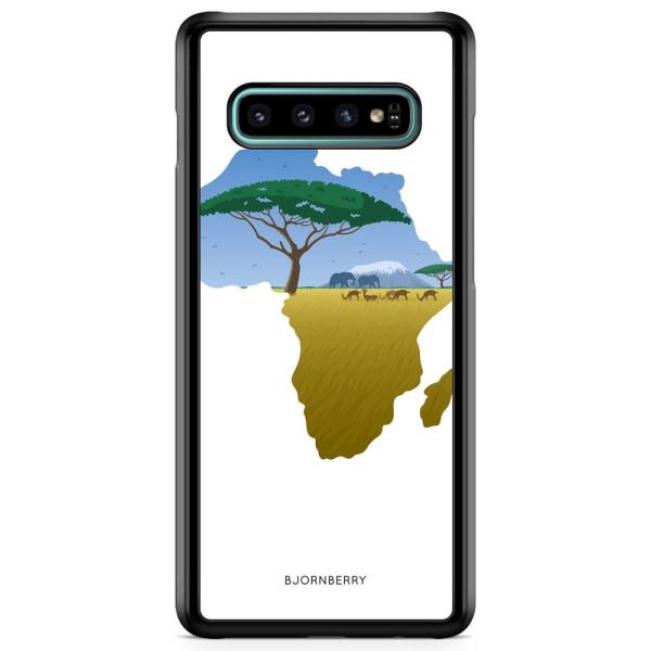 Bjornberry Skal Samsung Galaxy S10 Plus - Afrika Vit