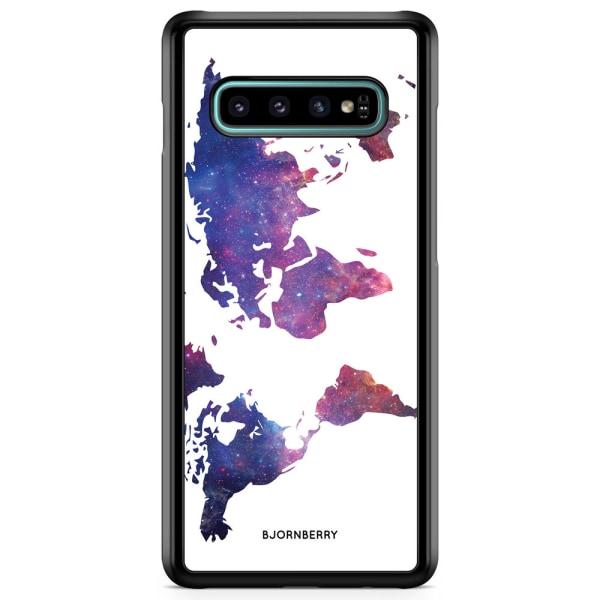 Bjornberry Skal Samsung Galaxy S10 - Världkarta Rymd
