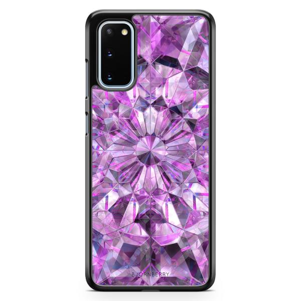 Bjornberry Skal Samsung Galaxy S20 - Lila Kristaller