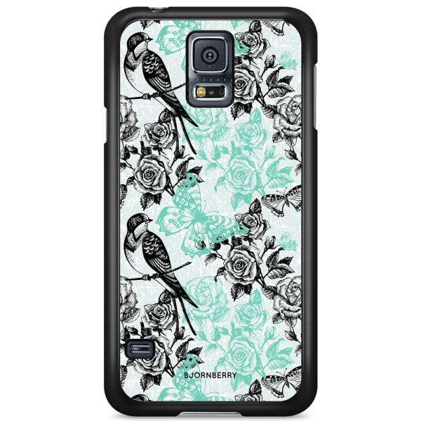 Bjornberry Skal Samsung Galaxy S5 Mini - Fåglar & Rosor