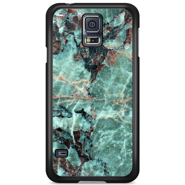 Bjornberry Skal Samsung Galaxy S5/S5 NEO - Grön Marmor