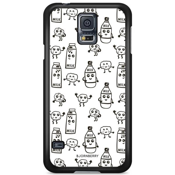 Bjornberry Skal Samsung Galaxy S5/S5 NEO - Mjölk & Kakor