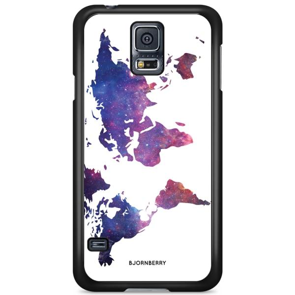 Bjornberry Skal Samsung Galaxy S5/S5 NEO - Världkarta Rymd