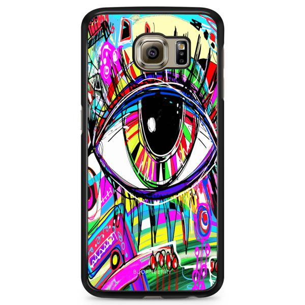Bjornberry Skal Samsung Galaxy S6 Edge - Abstrakt Öga