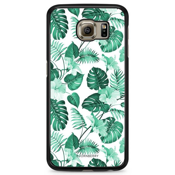 Bjornberry Skal Samsung Galaxy S6 Edge - Blommor Turkos
