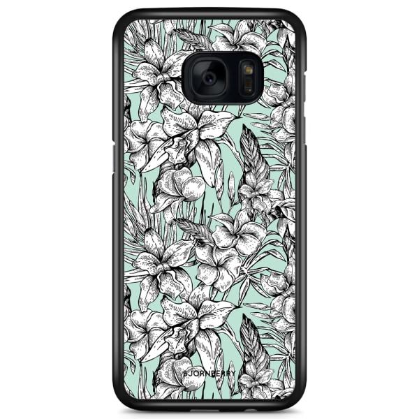 Bjornberry Skal Samsung Galaxy S7 Edge - Exotiska Blommor