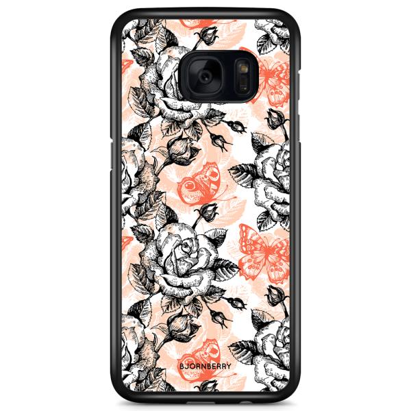 Bjornberry Skal Samsung Galaxy S7 Edge - Fjärilar & Rosor