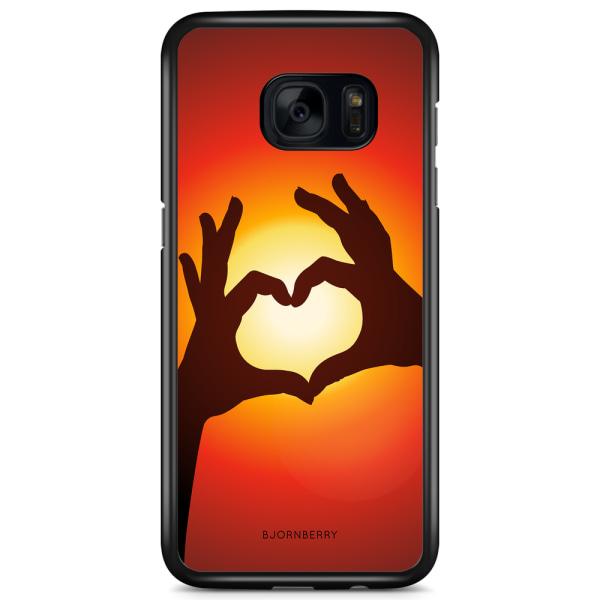 Bjornberry Skal Samsung Galaxy S7 Edge - Hand Hjärta