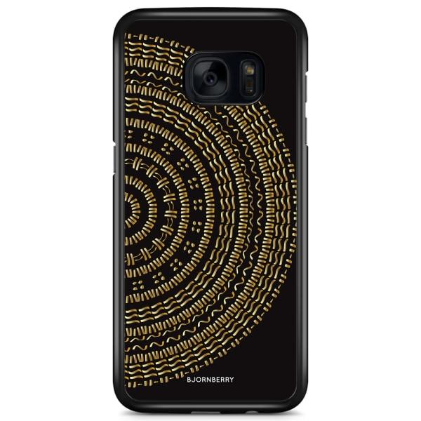 Bjornberry Skal Samsung Galaxy S7 Edge - Mandala Guld/Svart
