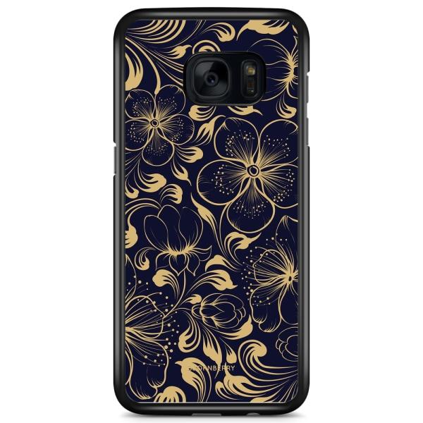 Bjornberry Skal Samsung Galaxy S7 - Mörkblå Blommor