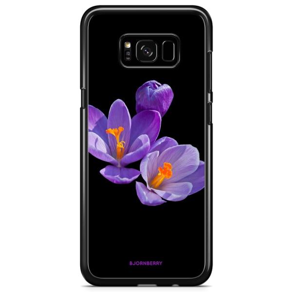 Bjornberry Skal Samsung Galaxy S8 - Lila Blommor