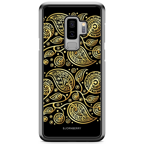 Bjornberry Skal Samsung Galaxy S9 Plus - Guld Blommor