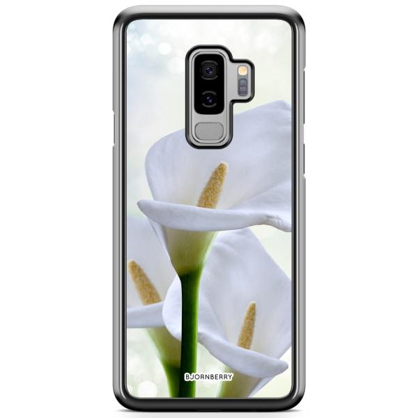 Bjornberry Skal Samsung Galaxy S9 Plus - Vit Blomma