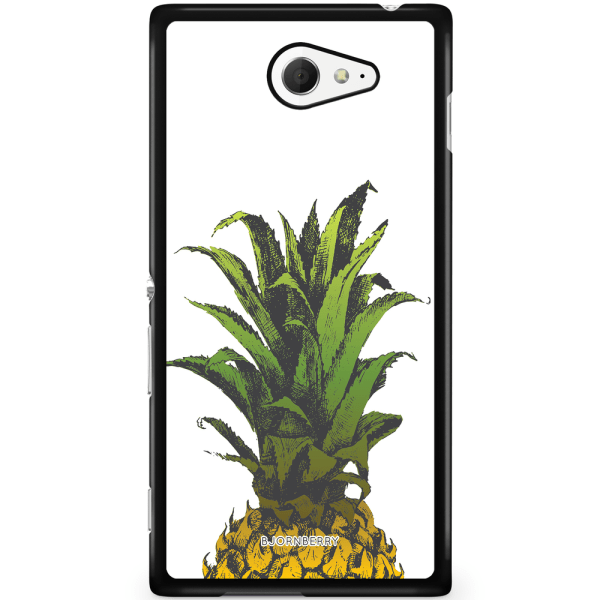 Bjornberry Skal Sony Xperia M2 Aqua - Ananas
