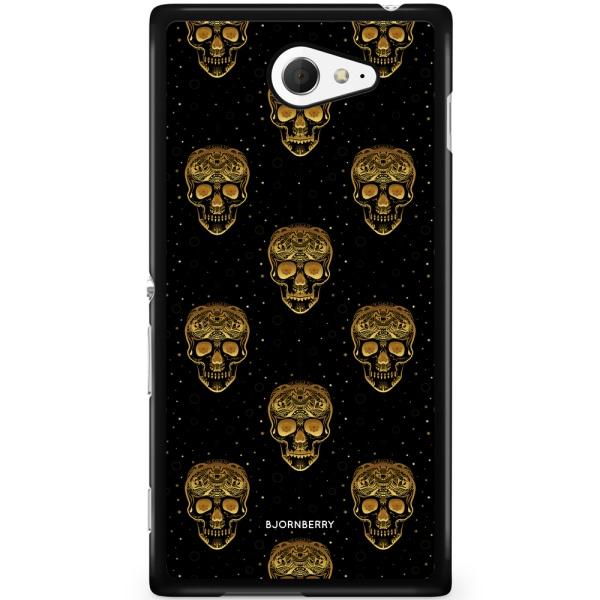 Bjornberry Skal Sony Xperia M2 Aqua - Gold Skulls