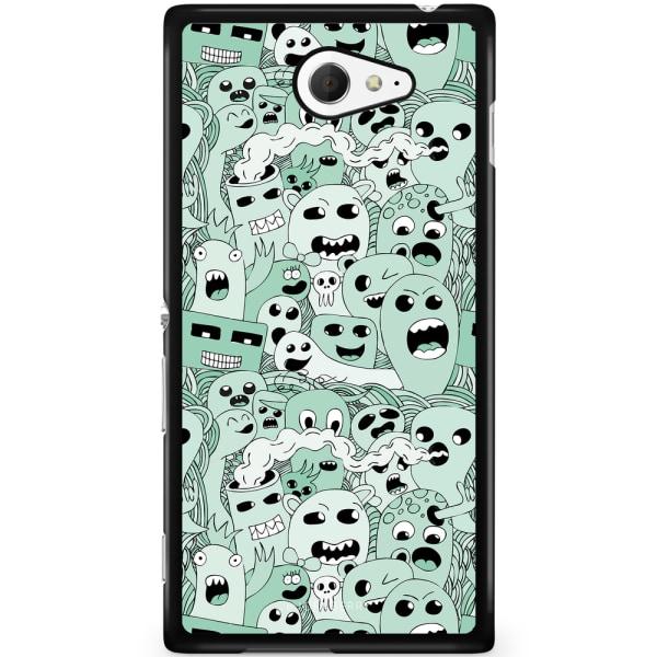 Bjornberry Skal Sony Xperia M2 Aqua - Spökmönster