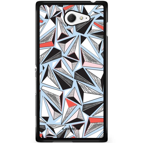 Bjornberry Skal Sony Xperia M2 Aqua - Triangelmönster