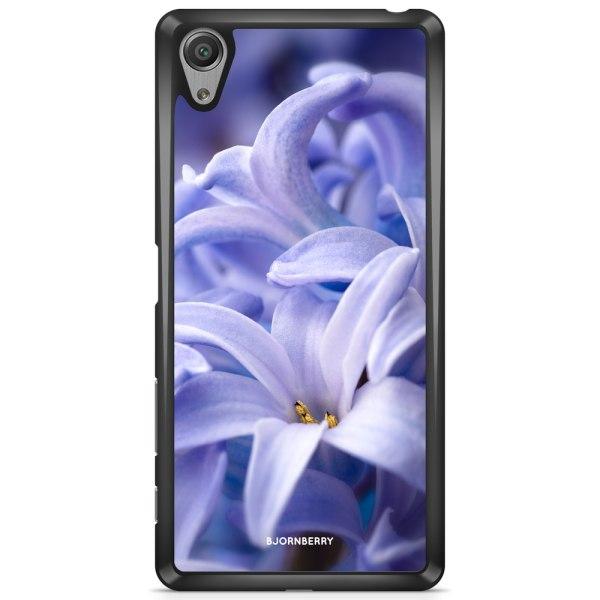 Bjornberry Skal Sony Xperia X - Blå blomma