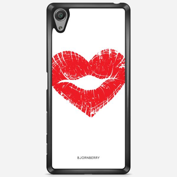 Bjornberry Skal Sony Xperia X Performance - Hjärta Läppar