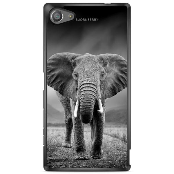 Bjornberry Skal Sony Xperia Z5 Compact - Svart/Vit Elefant