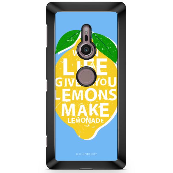 Bjornberry Sony Xperia XZ2 Skal - Citron Citat