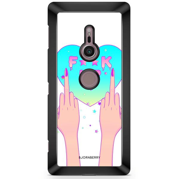 Bjornberry Sony Xperia XZ2 Skal - F**K UP
