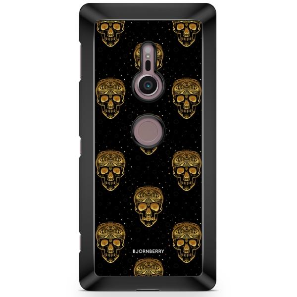 Bjornberry Sony Xperia XZ2 Skal - Gold Skulls