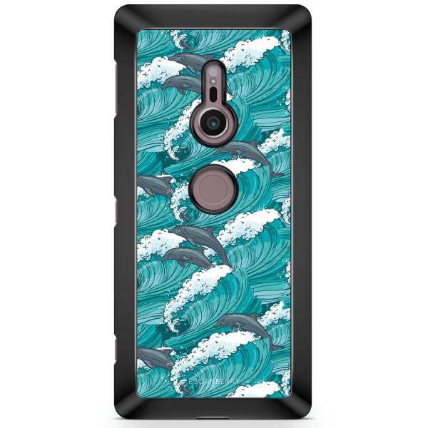 Bjornberry Sony Xperia XZ2 Skal - Vågor & Delfiner