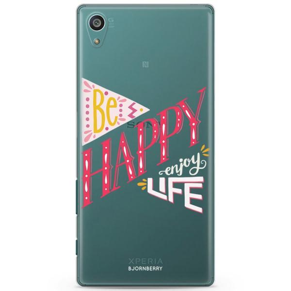 Bjornberry Sony Xperia Z5 Compact TPU Skal -Be Happy