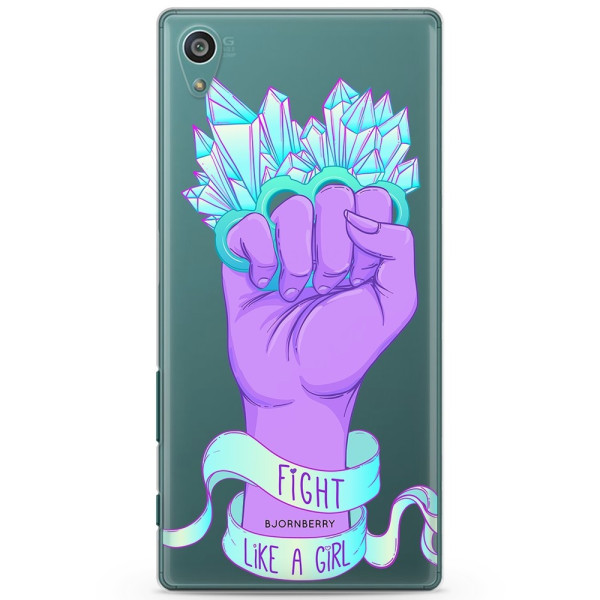 Bjornberry Sony Xperia Z5 Compact TPU Skal -Fight Like A Girl