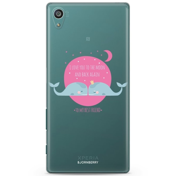 Bjornberry Sony Xperia Z5 Compact TPU Skal -Love You To The Moon