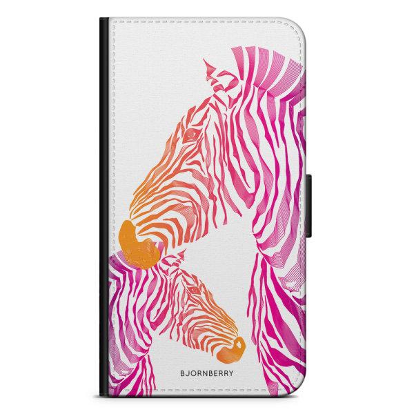 Bjornberry Xiaomi Mi A2 Lite Fodral - Rosa Zebror