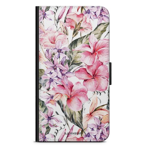 Bjornberry Xiaomi Redmi Note 9 Fodral - Vattenfärg Blommor