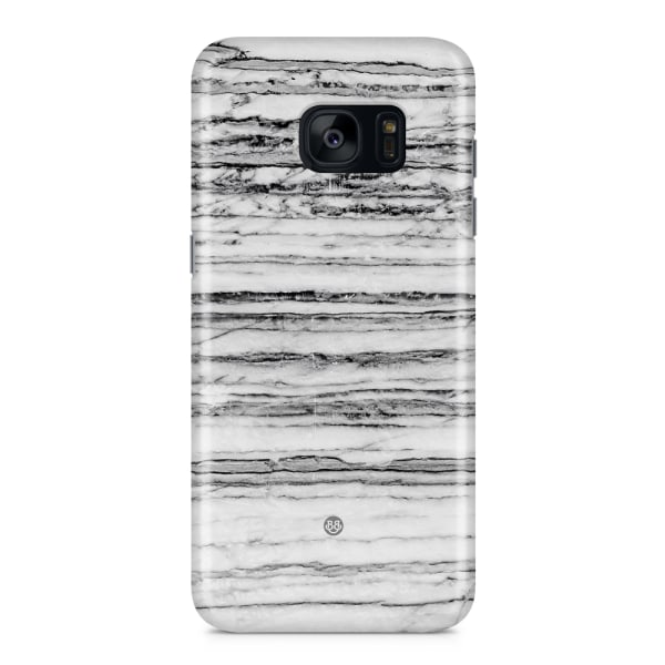 Samsung Galaxy S7 Edge Premium Skal - Grey Marble