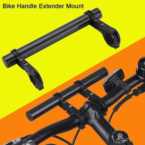 20cm Durable Double Handlebar Extension Mount Carbon Fiber E