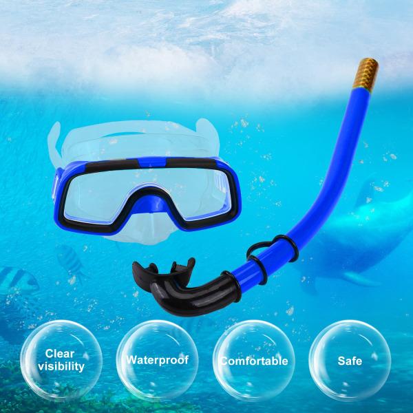 Children Kids Swimming Diving Silicone Fins+Snorkel Scuba Ey
