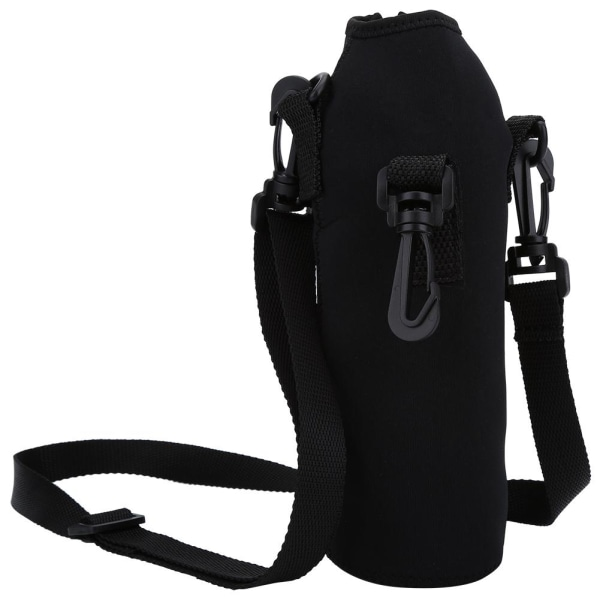 Outdoor Sports Water Bottle 1L Thermal Holder Case Cover wit black