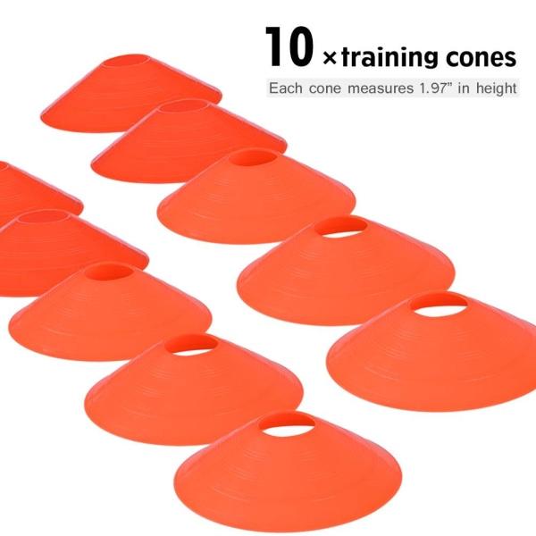 Speed Agility Train Kit, 19Ft Flat Ladder + 10pcs Disc Cones 1个训梯子(橙色)+ 10个足球角标(圆口橙色)+1个置物架