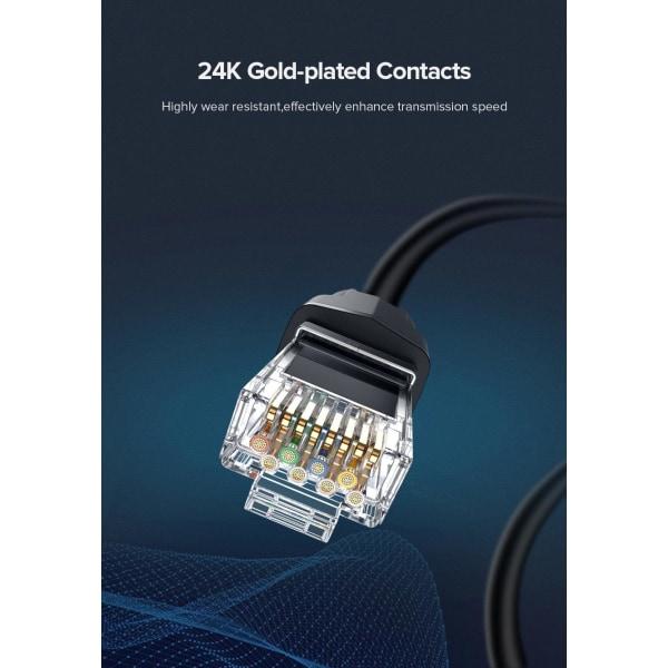 3 m Ugreen Cat8 Ethernet Kabel RJ 45 Nätverkskabel SFTP 40Gbps,  Svart