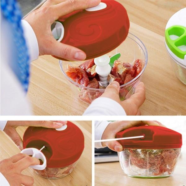 Grönsakshackare / Herb chopper lökhackare köksredskap hacka mixa Red