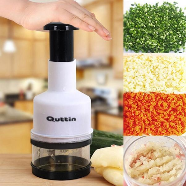 Grönsakshackare / Herb chopper lökhackare köksredskap hacka mixa Vit