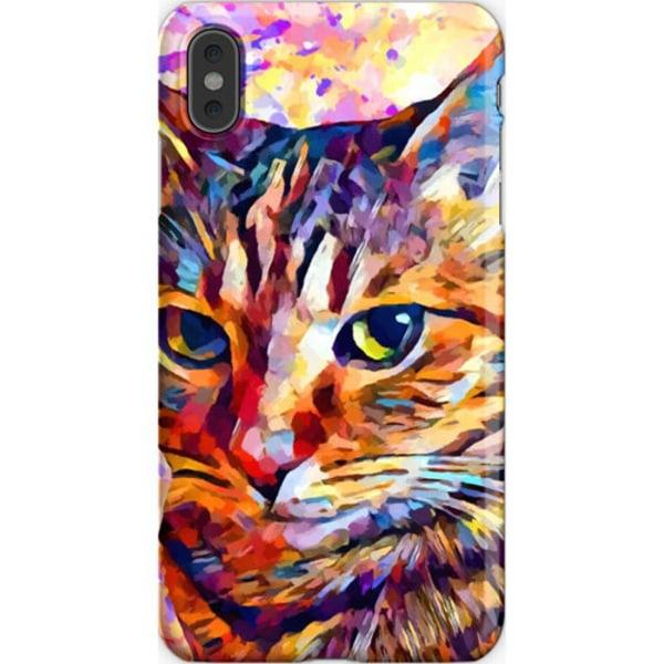Skal till iPhone Xs Max - Färgglad katt