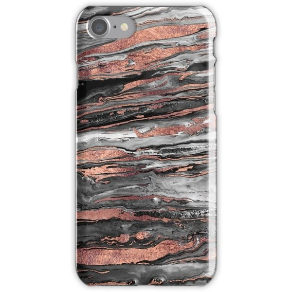 WEIZO Skal till iPhone 7 - Modern rose gold marble